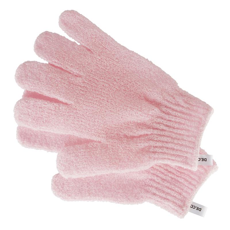 Перчатки для душа DECO. отшелушивающие (розовые)
