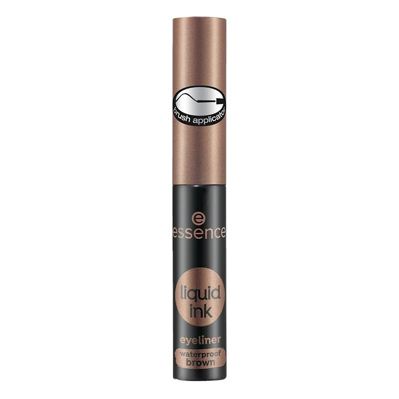 Подводка для глаз Essence Liquid Ink Eyeliner Waterproof водостойкая тон 02 (коричневая)