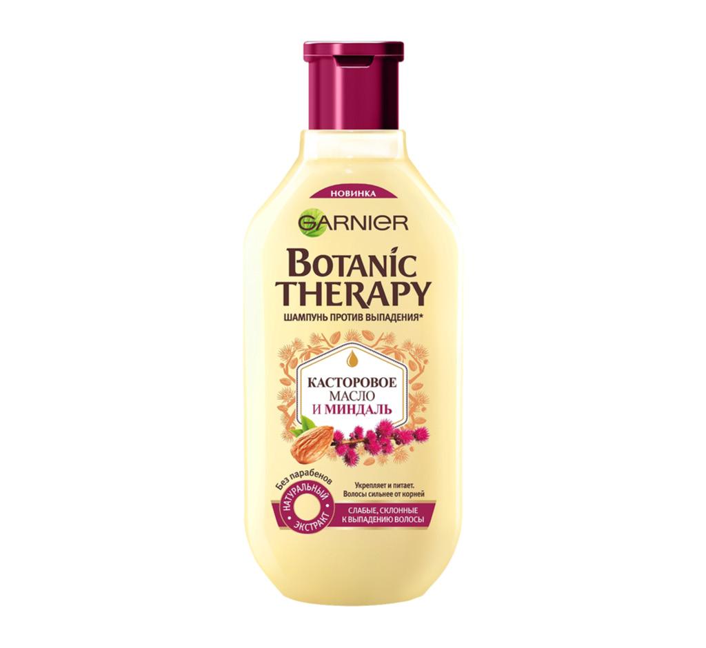 Шампунь для волос Garnier Botanic Therapy Касторовое масло и миндаль против выпадения