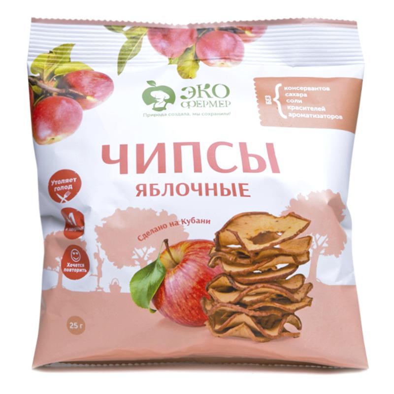 Яблочные чипсы Экофермер